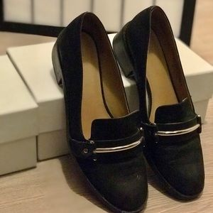 Nine West Black Loafer with Accent